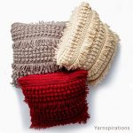 Free Crochet Pattern Tassel and Texture Pillow