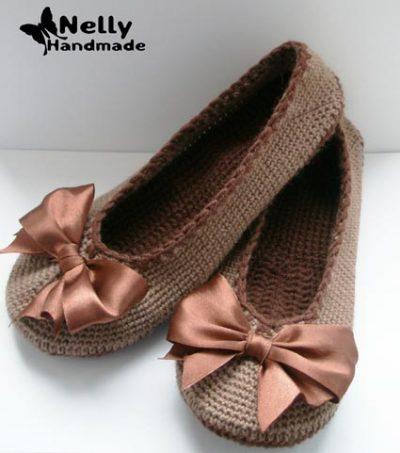 Free Crochet Pattern Ballerina Slippers
