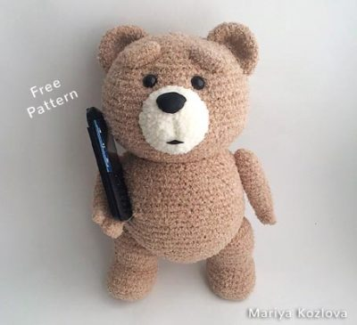 Free Crochet Pattern Bear Ted