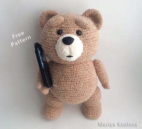 Free Crochet Bear Patterns – Amigurumi Patterns | Crochet bear ... | 414x454