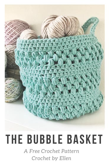 Free Crochet Pattern Bubble Basket