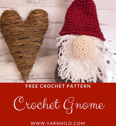 Free Crochet Pattern Christmas Gnome