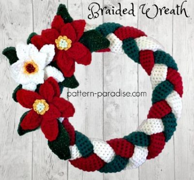 Free Crochet Pattern Christmas Wreath