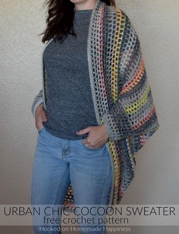 Free Crochet Pattern Cocoon Sweater