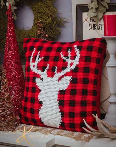 Free Crochet Pattern Deer Pillow