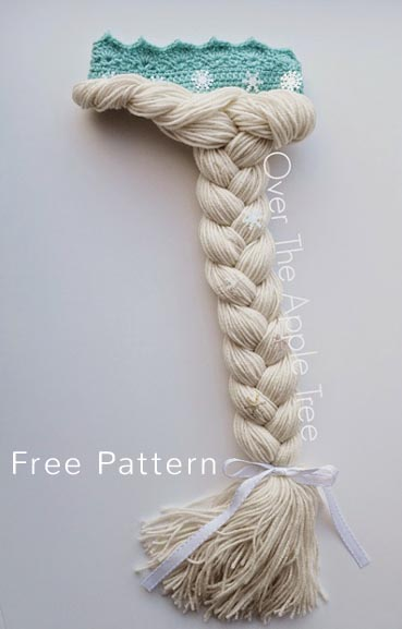Free Crochet Pattern Elsa Hair & Crown