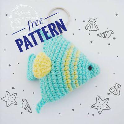 Free Crochet Pattern Fish Keychain