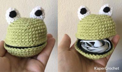 Free Crochet Pattern Froggy Pouch