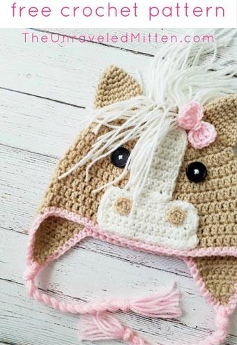Free Crochet Pattern Horse Hat