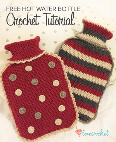 Free Crochet Pattern Hot Water Bottle