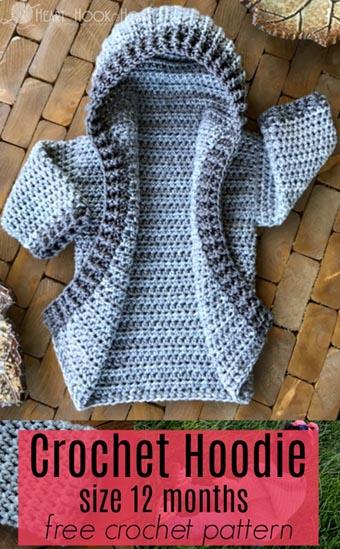 Free Crochet Pattern Infant Hoodie