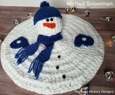 Free Crochet Pattern Melted Snowman