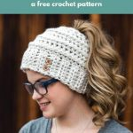 Free Crochet Pattern Messy Bun Hat