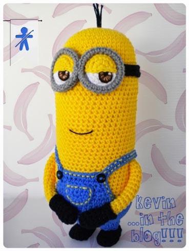 Free Crochet Pattern Minion Kevin