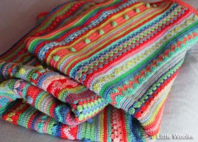 Free Crochet Pattern Mixed Stitch Blanket