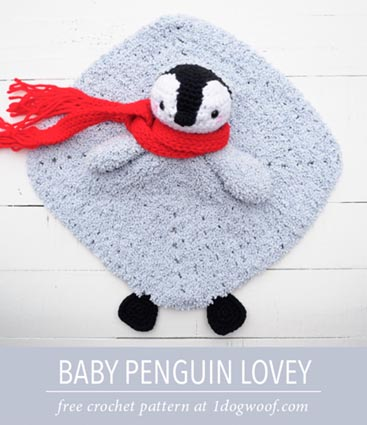 Free Crochet Pattern Penguin Lovey