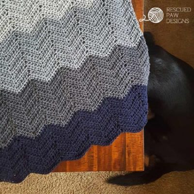 Free Crochet Pattern Ripple Blanket