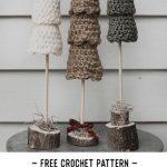 Free Crochet Pattern Rustic Christmas Tree