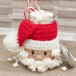 Free Crochet Pattern Santa Candy Jar