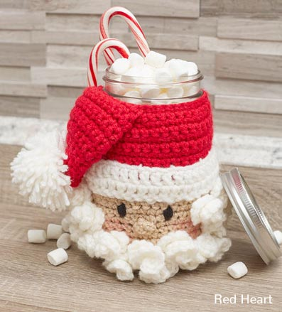 Free Crochet Pattern Santa Candy Jar