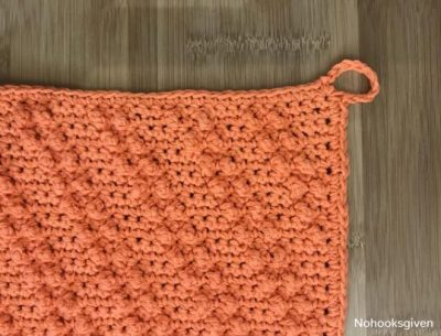 Free Crochet Pattern Sideways Dishcloth