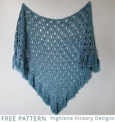 Free Crochet Pattern April Showers Shawl