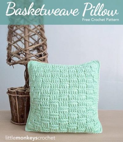 Free Crochet Pattern Basketweave Pillow