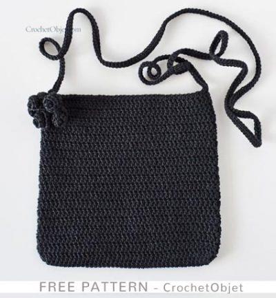 Free Crochet Pattern Black Jet Bag