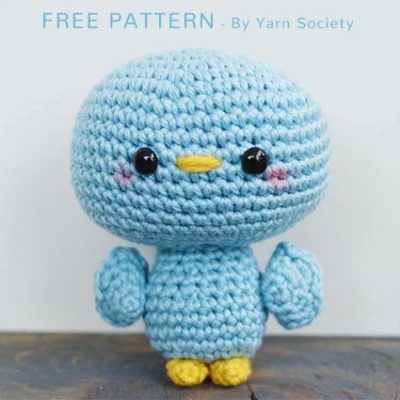 Free Crochet Pattern Blu the Bird