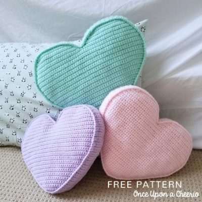 Free Crochet Pattern Candy Heart Pillow