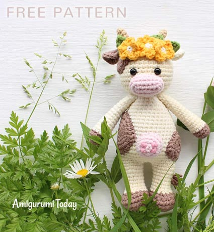Free Crochet Pattern Cuddle Me Cow