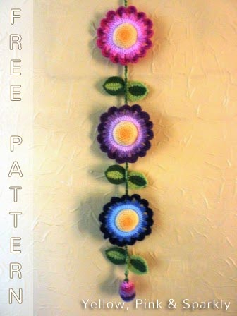 Free Crochet Pattern Flower Hanging