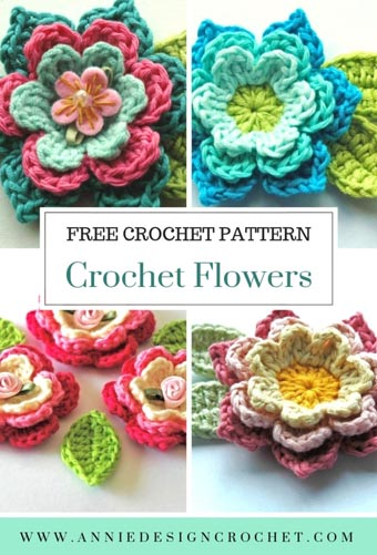 Free Crochet Pattern Flowers