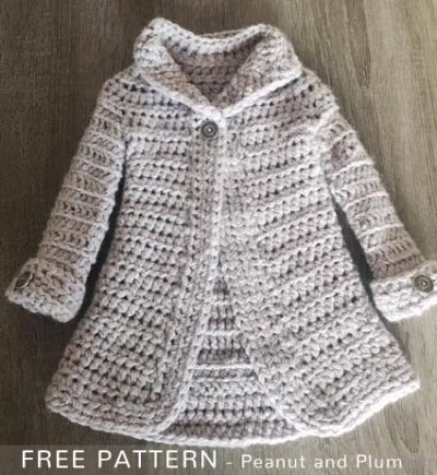 Free Crochet Pattern Girls Coat