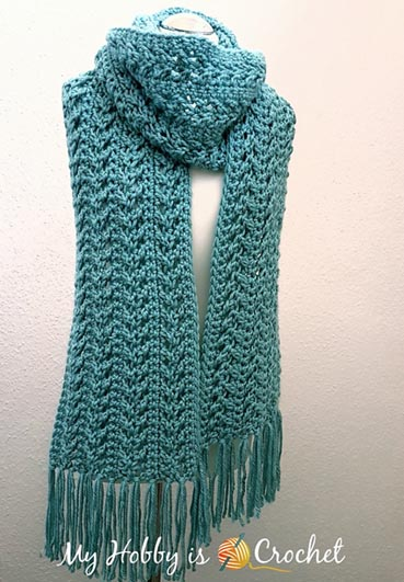 Free Crochet Pattern Go With the Flow Scarf