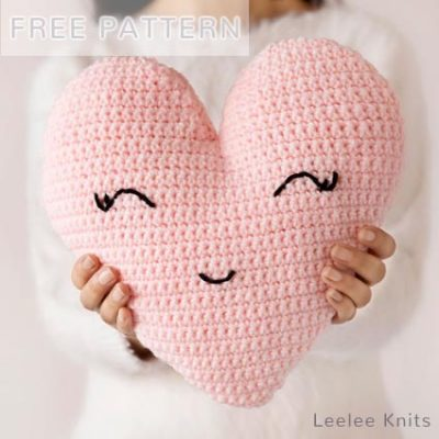 Free Crochet Pattern Heart Shaped Pillow