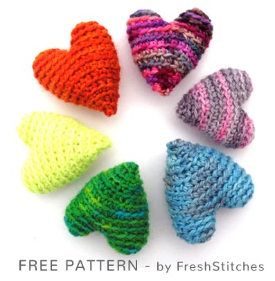 Free Crochet Pattern Hearts