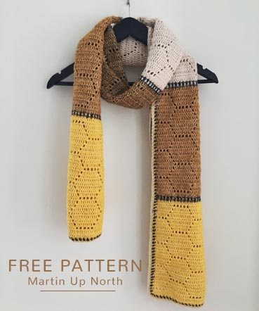 Free Crochet Pattern Honey Bee Scarf