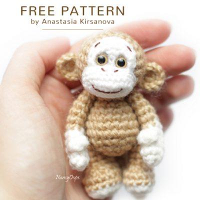 Free Crochet Pattern Little Monkey