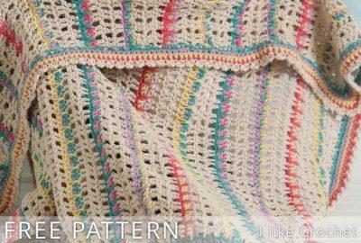 Free Crochet Pattern Modern Lace Blanket