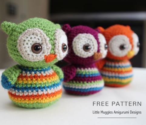 Baby Knitting Patterns Crochet Leaping Stitch Owl Amigurumi Free ... | 412x482