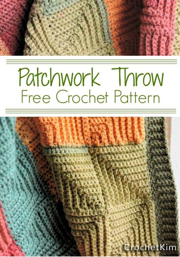 Free Crochet Pattern Patchwork Throw
