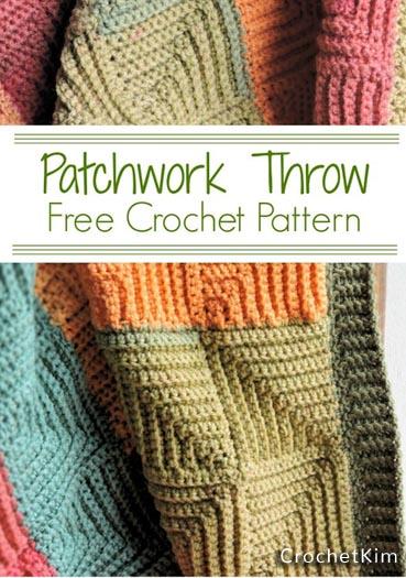 Free Crochet Pattern Patchwork Throw
