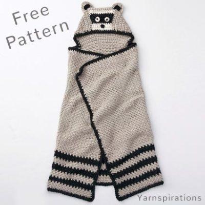 Free Crochet Pattern Raccoon Blanket