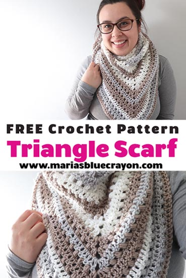 Free Crochet Pattern Triangle Scarf