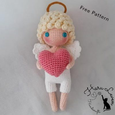 Free Crochet Pattern Valentine Angel
