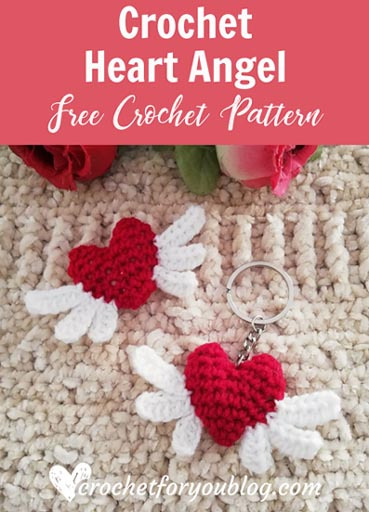 Free Crochet Pattern Angel Heart