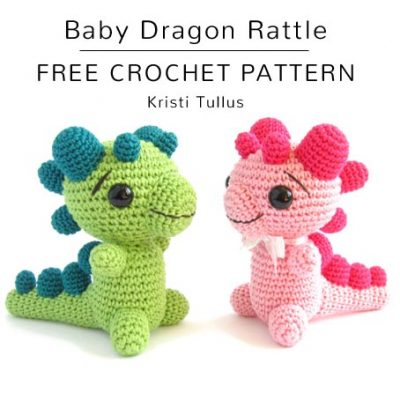 Free Crochet Pattern Baby Dragon Rattle