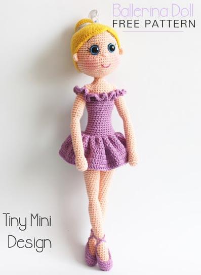 Free Crochet Pattern Ballerina Doll