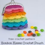 Free Crochet Pattern Bonbon Kisses Pouch